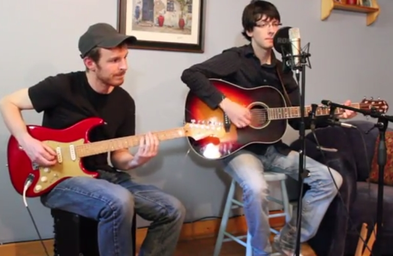 Layne Greene and Bryan MacDonald during the skype interview for www.radio-happy.com