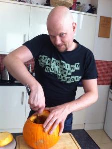 Autumn: Carving pumpkins in between tours.