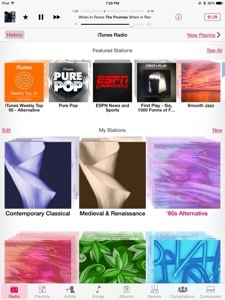 Stumbling upon cool tracks with iTunesradio.