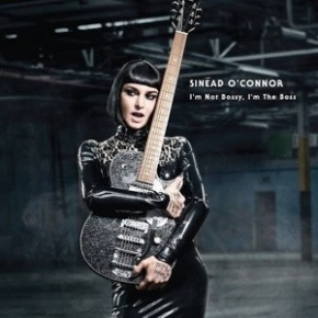 Sinead O'Connor looking happier and pretty in I'm Not Bossy, I'm The Boss album cover.