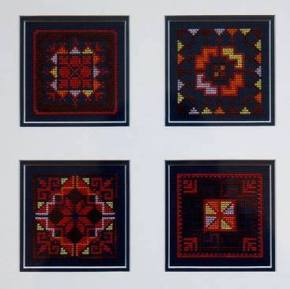 The Palestinian Tatreez designs sewn by Paula for Moments of Silence( UNRWA Gaza Relief Fund)