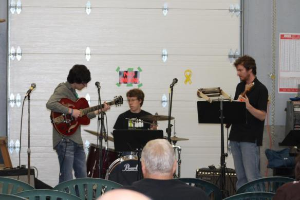 One of those memorable sessions with Layne Greene (left) Alex Lank (center) and Bryan MacDonald(right)