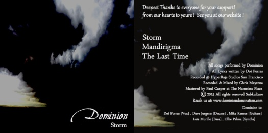 Dominion storm ep album cover-side