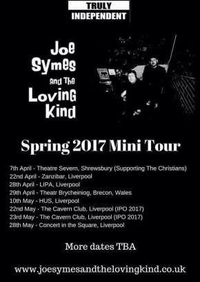 New Gigs and New Music from Joe Symes and the Loving Kind